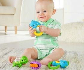 Fisher Price Музикална въртележка за легло Seahorse