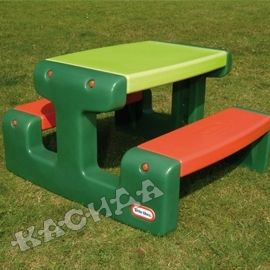 Little Tikes - Детска маса за пикник Junior Picnic Table Evergreen